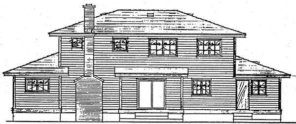 Country Traditional House Plan 90826 Rear Elevation
