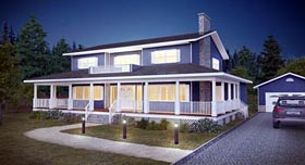 Country House Plan 90827 Elevation
