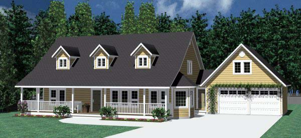 Country Farmhouse Southern House Plan 90838 Elevation