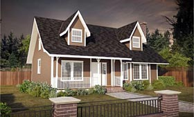 Cape Cod Country House Plan 90850 Elevation