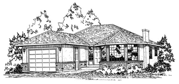 Traditional House Plan 90851 Elevation