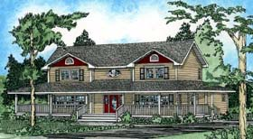 Country Farmhouse House Plan 90860 Elevation