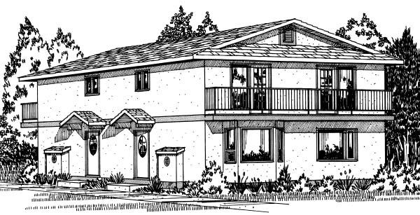 Florida Multi-Family Plan 90861 Elevation