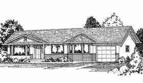 Ranch House Plan 90865 Elevation