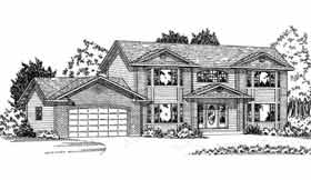 Traditional House Plan 90866 with 4 Beds, 3 Baths, 2 Car Garage Elevation