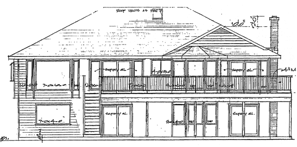 Traditional House Plan 90867 Rear Elevation