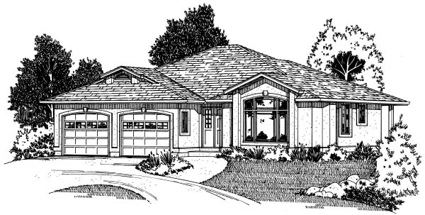 Traditional House Plan 90873 Elevation
