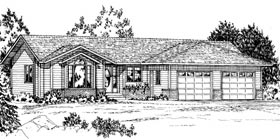 Ranch House Plan 90874 Elevation
