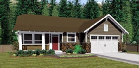 Colonial , Craftsman , Traditional House Plan 90878 with 3 Beds, 3 Baths, 2 Car Garage Elevation