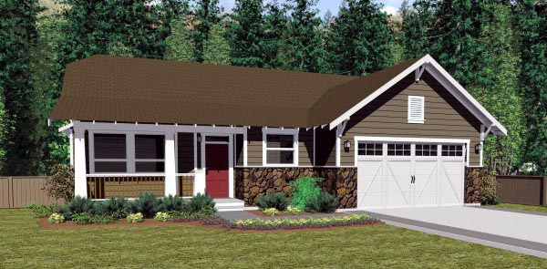 Colonial Craftsman Traditional House Plan 90878 Elevation