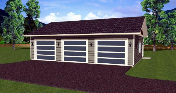 Garage Plan 90882 Elevation