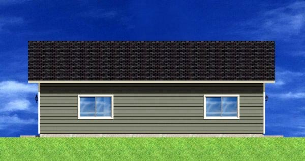 Garage Plan 90882 Rear Elevation