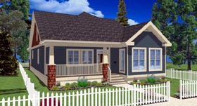 Bungalow Craftsman House Plan 90885 Elevation