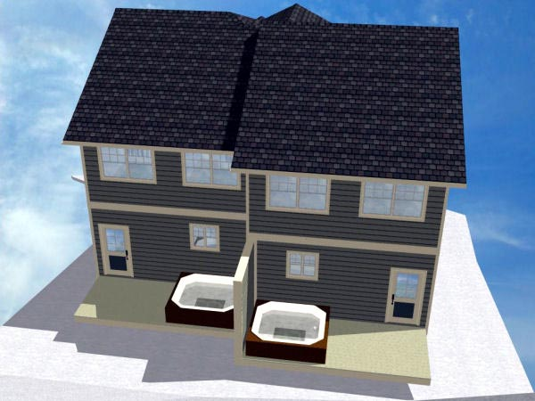 Multi-Family Plan 90887 with 8 Beds, 8 Baths, 2 Car Garage Picture 3