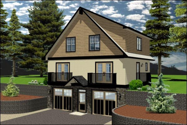 House Plan 90889 Elevation