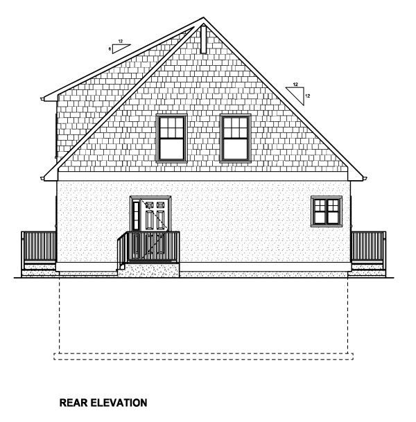 House Plan 90889 Rear Elevation
