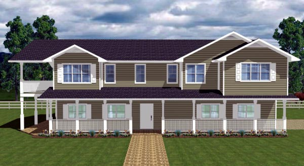 Country House Plan 90890 Elevation