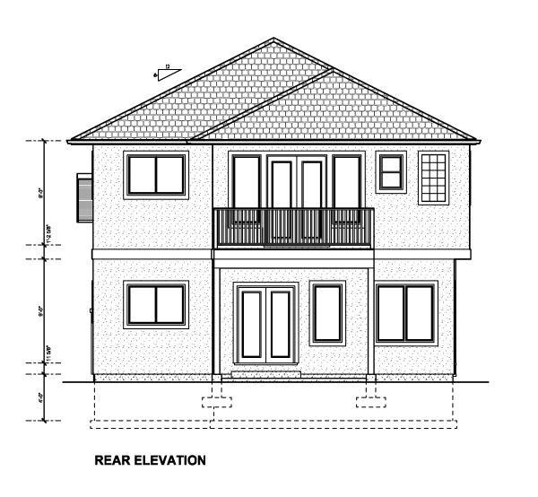 Florida House Plan 90892 Rear Elevation