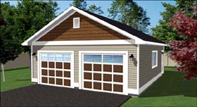 Garage Plan 90894 | Style Plan, 2 Car Garage Elevation