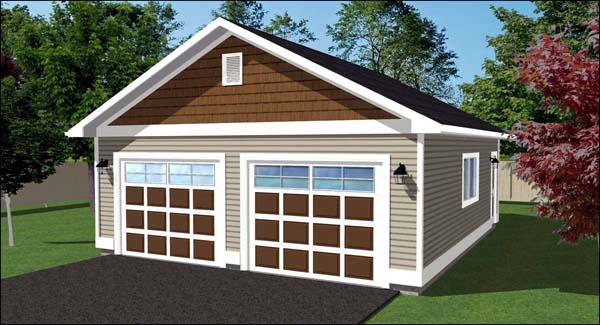 2 Car Garage Plan 90894 Elevation