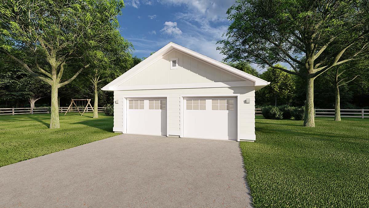 2 Car Garage Plan 90895 Front Elevation