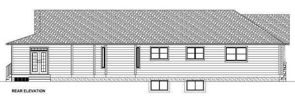 Country House Plan 90897 Rear Elevation