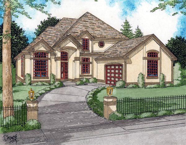 House Plan 90898 Elevation