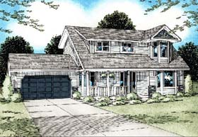 Country House Plan 90901 Elevation