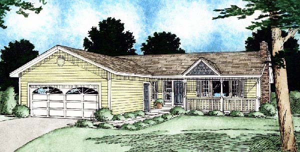 Ranch , Elevation of Plan 90905