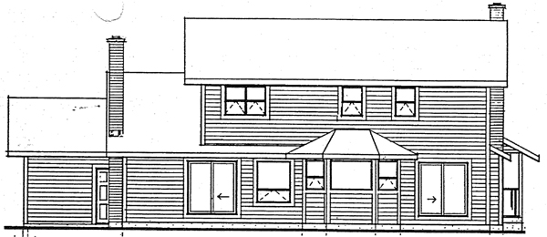Country Victorian Rear Elevation of Plan 90909