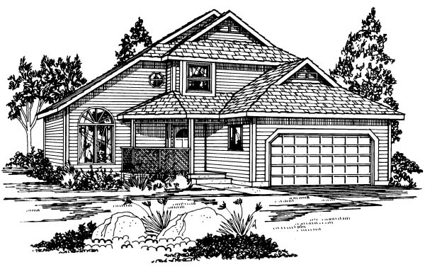 Contemporary Traditional House Plan 90910 Elevation