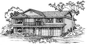 Traditional House Plan 90922 Elevation