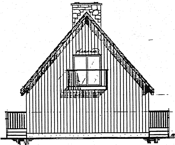 Contemporary Rear Elevation of Plan 90930