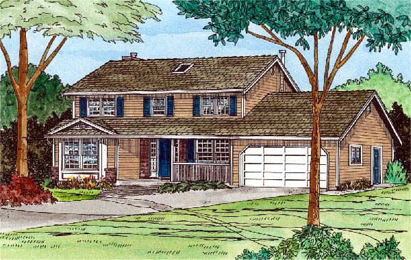 House Plan 90933 Elevation