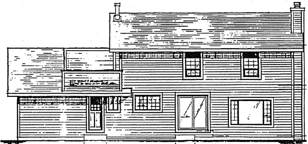 House Plan 90933 Rear Elevation