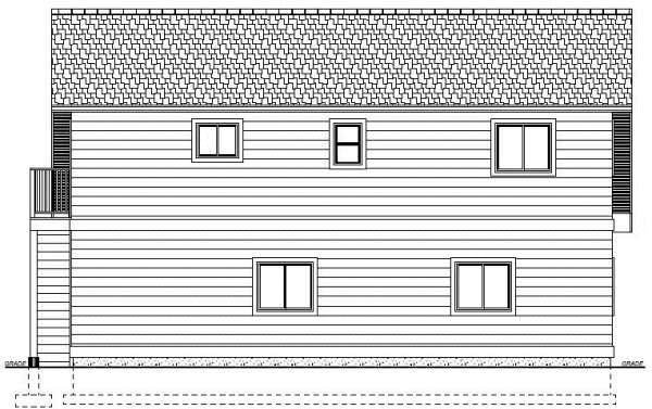 Garage Plan 90941 Rear Elevation