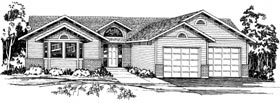 Ranch Traditional House Plan 90947 Elevation