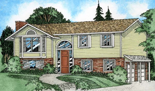 European Traditional House Plan 90950 Elevation