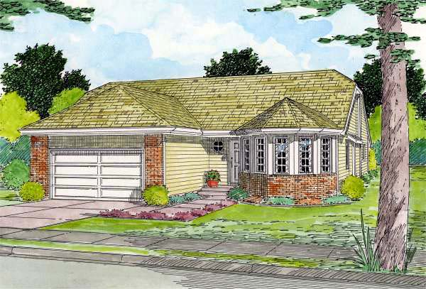 Traditional House Plan 90953 Elevation
