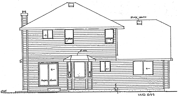 Contemporary House Plan 90961 Rear Elevation