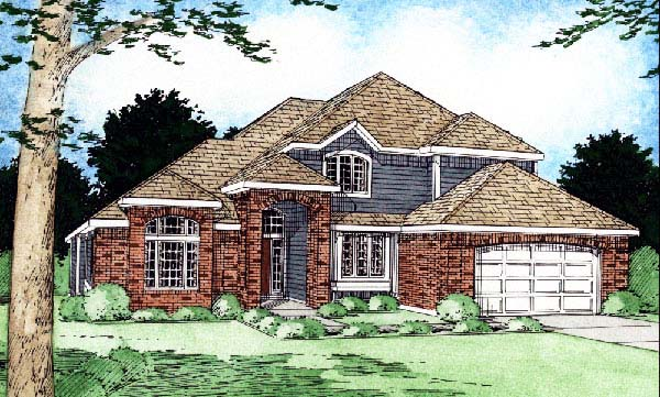 Traditional House Plan 90966 Elevation