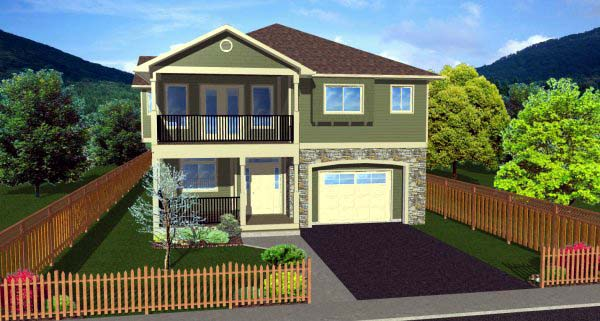 Craftsman Multi-Family Plan 90973 Elevation