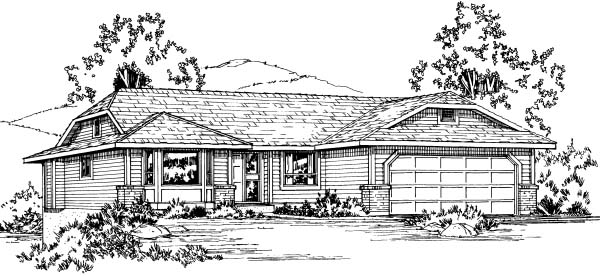 Ranch House Plan 90978 Elevation