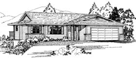 Ranch Southwest House Plan 90984 Elevation