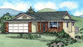 Ranch Southwest House Plan 90987 Elevation
