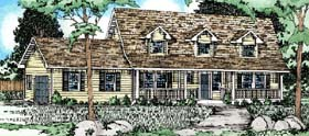 Country , Cape Cod House Plan 90992 with 3 Beds, 3 Baths, 2 Car Garage Elevation