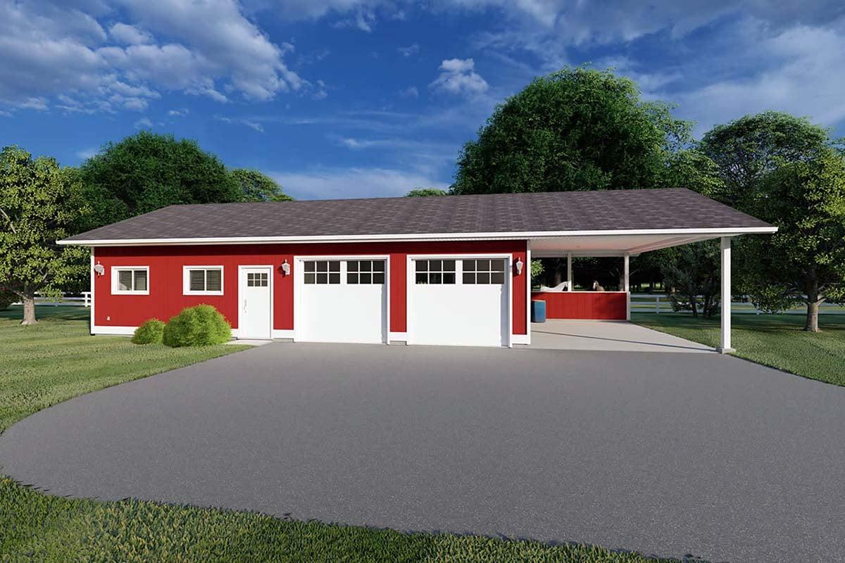 Garage Plan 90993 Elevation