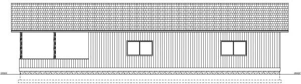 Garage Plan 90993 Rear Elevation