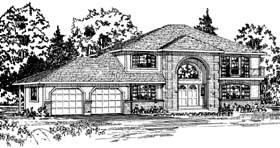 European House Plan 90997 Elevation