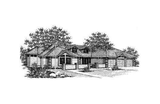 Contemporary House Plan 91011 Elevation